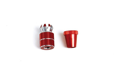 Maximum grip red short transmitter sticks for MC HoTT transmitters. Anodised Red.